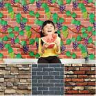 3d Vintage Brick Backdrop Self-adhesive Waterproof Wall Sticker Home Decor Ma