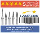 Best Weller ET Solder Tips Replacement Set - 5 Extra Long Life Soldering Iron -