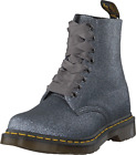 Dr Martens 1460 Pascal PEWTER GLITTER 8 Eyelet Boot 24320041 rrp £115