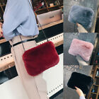 Women Faux Fur Shoulder Bag Tote Purse Crossbody Messenger Satchel Handbag