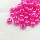 4mm - 8mm Faux Pearl Beads Acrylics Choose Size/Colours Craft Jewellery Making