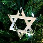 Large+Star+of+David+Christmas+Tree+Decorations+-+Pack+4+x+14cm+-+Various+Colours