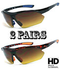 Kyпить 2 Pairs HD Amber Anti Glare Lens Inner Bifocal Sun Reader Sunglasses Mens Womens на еВаy.соm