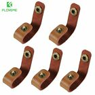 FLOVEME 5 Pack Real Leather Cable Winder Wire Organizer Earphone Cord Protector
