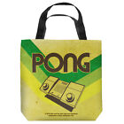 ATARI PONG LINES LIGHTWEIGHT TOTE BAG 2 SIDED PRINT