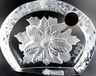 CHRISTMAS POINSETTIA 1999 CRISTAL D'ARQUES GLASS PAPERWEIGHT FRANCE (E29)