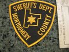 old Montgomery Co Illinois Sheriff Police patch vintage IL