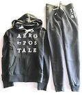 Aeropostale Women's Two Pcs Set Full Zip-up Hoodie And A Cinch/Jogger Sweatpants