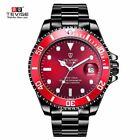 Tevise Colorful Automatic Stainless Steel Auto Date Submariner Homage Mens Watch