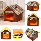 Pet Cats Dog House Kennel Puppy Cave Sleeping Bed Winter Warm Nest Igloo Condo