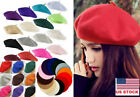 Kyпить US Women Girls Beret Hat Fashion Plain Wool French Hats Winter Autumn Cap Hat на еВаy.соm