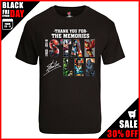 Stan Lee T Shirt Thank You For The Memories T-Shirt Stan Lee Marvel Black Unisex