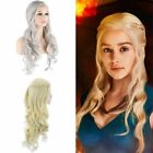 Game of Thrones Daenerys Targaryen Wig Wavy Curly Hair Halloween Cosplay Costume