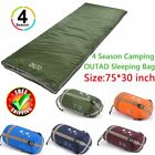 "OUTAD Waterproof 4 Season Single Sleeping Bag Camping Hiking 75""L*30""W EC"