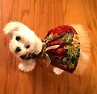 xxxSmall Christmas Holiday Gold Poinsetta Dress-Dog clothes- Puppy Apparel