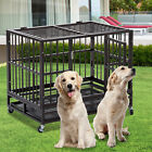 """Dog Crate 37""""/42""""/48"""" Heavy Duty Cage Pet Kennel Playpen Exercise w/ Metal Tray"""
