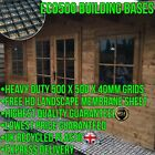 GARDEN SHED BASE REINFORCED GRAVEL GRIDS OUTDOOR GREENHOUSE ECO SLABS + MEMBRANE