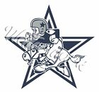 Dallas Cowboys Throwback 1960-1970 Mascot Star Sticker Decal / Sticker 5 sizes!!