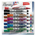 BIC Low Odor and Bold Writing Pen Style Dry Erase Marker Bullet Tip Assorted 12