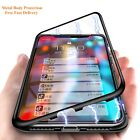 For Apple XS MAX 8 6 6s 7 Plus Magnetic Case Tempered Glass Metal Cover