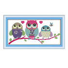 11CT 14CT Dimensions Counted Cross Stitch Kit Printed Cartoon Owls Patterns