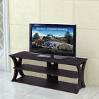 3-Tier Entertainment Center TV Stand with 2 Bottom Shelves Living Room Bedroom