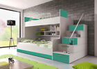 Modern BUNK BED HIGH SLEEPER * ALTA * KIDS SUIT CHILDREN SET HIGH GLOSS MATTRESS