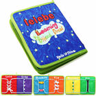 Montessori Learn to Dress Boards Kid Toys Quiet Book Zip Snap Button Buckle Lace