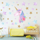Unicorn Hearts Stars Wall Art Stickers Girls Bedroom Decals 64 Hearts Style