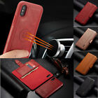 For iPhone XR XS X 8 7 Plus Detachable Magnetic Leather Stand Wallet Case Cover