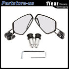 """7/8"""" Motorcycle Rear View Handle Bar End Side Rearview Mirror Left&Right Aluminu"""