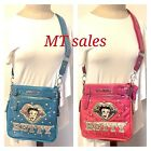 NEW BATTY Boop Women Leather Massenger Crossbody Purse Wallet Shoulder Bag B13S $29.99 USD on eBay