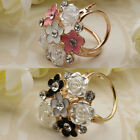 New Women Trio Scarf Ring Silk Scarf Buckle Clip Holder Brooch Slide Jewelry