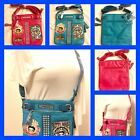 NEW BATTY Boop Women Leather Massenger Crossbody Purse Wallet Shoulder Bag $50.07 AUD on eBay