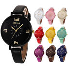 Wpmen's Fashion Numeral dial Analog Watches Faux Leather Band Casual Watches