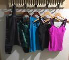 LOT of 6 Workout Tops Leggings Calvin Klein Nike Lucy Fab Gym Running Clothes XS