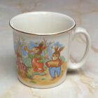 Vintage Mount Clemens Pottery Child's Mug with Rabbit Band and Ballons