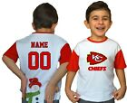 Kansas City Chiefs Kids Tee Shirt NFL Personalized Logo Youth Unisex Jersey Gift $9.76 USD on eBay