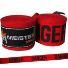 "MEISTER 180"" SEMI-ELASTIC HAND WRAPS - PAIRS MMA Boxing Mexican Lot ALL COLORS <br/> SALE - BUY MORE & SAVE MORE!   FREE WORLDWIDE SHIPPING!"