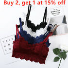 Hollow Camisole Lace Floral Bralette Push Up Bra Sexy Crop Top Padded Tank Tops
