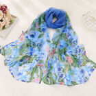 Fashion Women Ladies Floral Long Soft Wrap Scarf Ladies Stole Shawl Scarves US