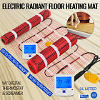 Electric Tile Radiant Warm Floor Heat Heated Kit, Mat with Thermostat Alarmer