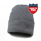 Classic Cuff Beanie Hat Winter Skully Hat Knit Ski Hat (Made in USA)