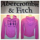 NWT ABERCROMBIE & FITCH WOMENS FLEECE HOODIES JACKET SIZE XS,S,M,L A&F pink $70