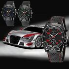 Mens Vogue Classic Black Silicone Band Stainless Steel Sports Quartz Wrist Watch image