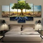 Abstract Tree of Life Painting Print Canvas Art Large Home Wall Decor 5 Piece