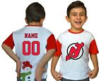 New Jersey Devils Kids Tee Shirt NHL Personalized Hockey Youth Jersey Unisex Fan $9.9 USD on eBay