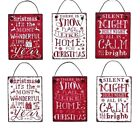 Christmas Message Decoration Vintage Metal Hanging Sign Home Tree Shabby Chic
