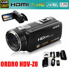 FULL HD 1080P 24MP LCD 16X ZOOM Digital Video DV Camera Camcorder Touch Screen