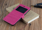 COVER CASE BOOK WINDOW ELEPHONE P7000 / 0.1oz TACTO WOOD SMALL WINDOW